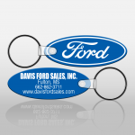 Soft Touch Key Fobs - Long Oval