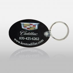 Soft Touch Key Fobs - Round