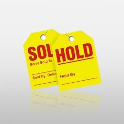 Sold/Hold Mirror Tags