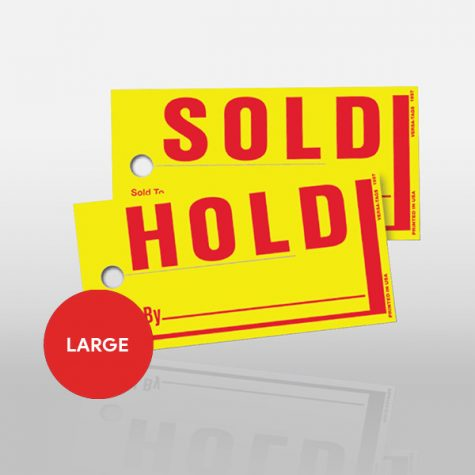 Sold/Hold Tags - Large