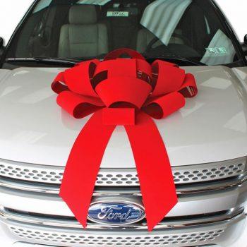 30 Inch Red Velvet Car Bow