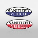 Sanitized Vehicle- Certified Oval Slogans