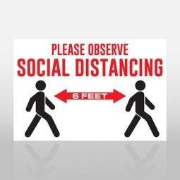 Social Distancing Banner